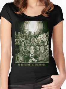 HP Lovecraft At The Movies Women's Fitted Scoop T-Shirt