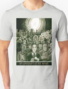 HP Lovecraft At The Movies Unisex T-Shirt