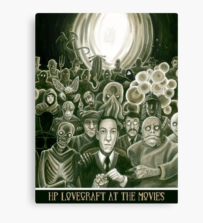 HP Lovecraft At The Movies Canvas Print