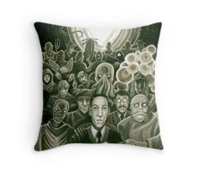 HP Lovecraft At The Movies Throw Pillow
