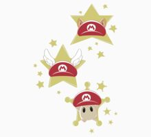 Super Mario Hats One Piece - Short Sleeve
