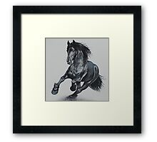 Thunder on the plains Framed Print