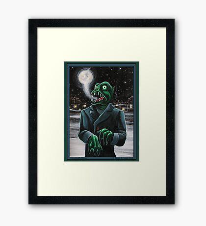 Innsmouth Winter Framed Print
