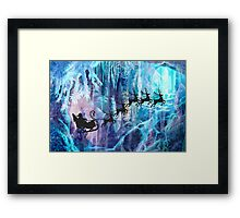 SANTA FROM THE DEPTHS OF THE NORTH POLE Framed Print