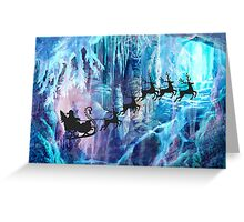 SANTA FROM THE DEPTHS OF THE NORTH POLE Greeting Card