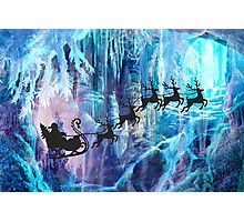 SANTA FROM THE DEPTHS OF THE NORTH POLE Photographic Print