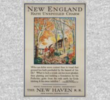 Vintage poster - New England One Piece - Long Sleeve