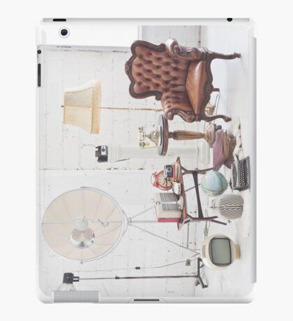 retro furniture and decoration in white room iPad Case/Skin