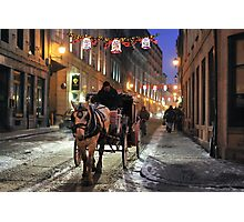 Christmas in Old Montreal Photographic Print