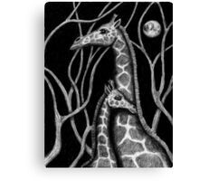 Giraffe colored pencils drawing Canvas Print