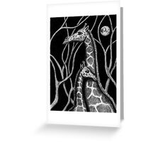 Giraffe colored pencils drawing Greeting Card