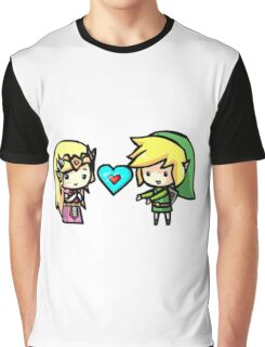 Link and Zelda Graphic T-Shirt
