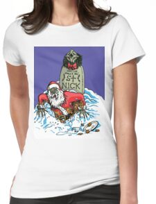 SANTA'S BACK!!! Womens Fitted T-Shirt