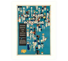 Vintage poster - New England Art Print