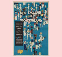 Vintage poster - New England Kids Clothes