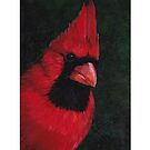 Mr Red Cardinal IPad case by Charlotte Yealey