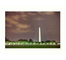Washington Monument at Night Art Print