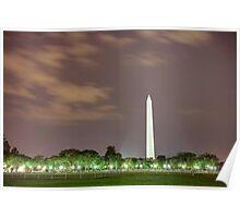 Washington Monument at Night Poster