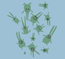 bunnies in weightlessness Kids Tee
