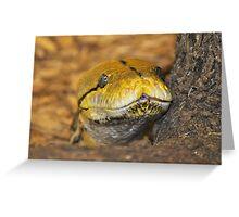 Yellow Snake Greeting Card