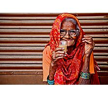 A Lady and her Chai Photographic Print