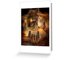 Dream Catcher - WolfLand Greeting Card