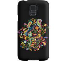 FlowerPower - Black Samsung Galaxy Case/Skin