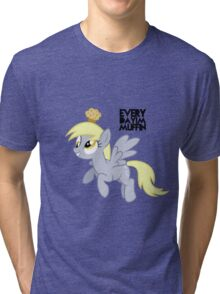 Everyday I'm Muffin Derpy Hooves  Tri-blend T-Shirt
