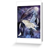 Dream Catcher - Legend Of The White Raven Greeting Card