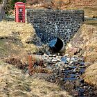 A Red Phone Box by the Bridge by Christine Smith