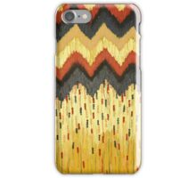 SHINE ON - Gold Glam Chevron Colorful Abstract Acrylic Pattern Painting Modern Home Decor Fine Art iPhone Case/Skin