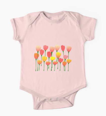 Tulips One Piece - Short Sleeve