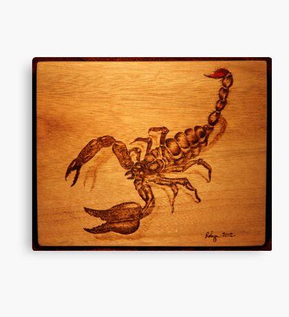 PYROGRAPHY: Scorpion Canvas Print