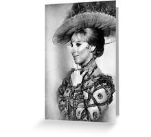 Barbara Streisand by John Springfield Greeting Card