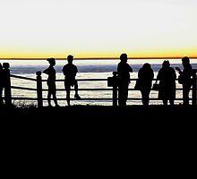 pacific ocean silhouette by Stephen Burke