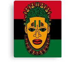 Benin Mask RBG Design Canvas Print