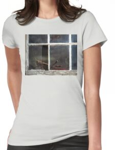 On The Dark Side Of The Window Womens Fitted T-Shirt