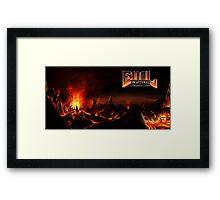 DOOM: Hellscape w/ EvilLemur logo Framed Print