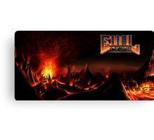 DOOM: Hellscape w/ EvilLemur logo Canvas Print