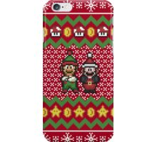 Super Mario and Lugi Ugly Christmas Sweater iPhone Case/Skin
