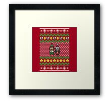Super Mario and Lugi Ugly Christmas Sweater Framed Print