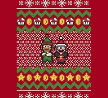 Super Mario and Lugi Ugly Christmas Sweater by jaffrywardjr