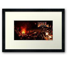DOOM: EVIL LEMUR Hellscape full cover Framed Print