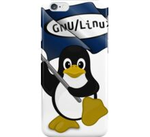 W gnu/Linux iPhone Case/Skin