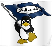 W gnu/Linux Poster