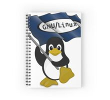 W gnu/Linux Spiral Notebook