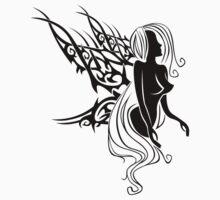 Tattoo with fairys or elf Kids Tee