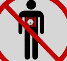 Suicide Bomber Free Zone Sticker