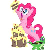 Pinkie Pie - This cake ist not a lie Photographic Print