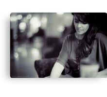 Amanda Tapping vs. Leica - Deep in Thought Canvas Print